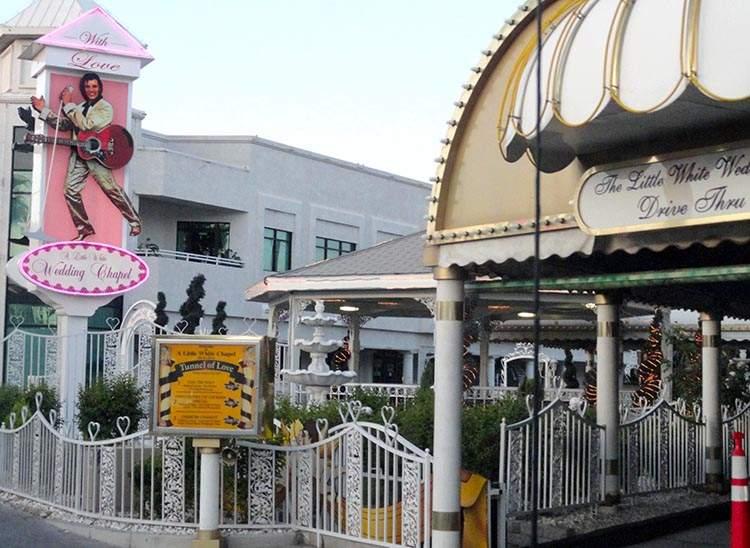 ciekawostki o Las Vegas kasyna Nevada hotele Wedding Chapel