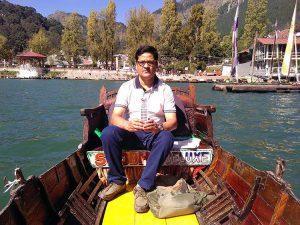 jezioro Nainital Lake Indie India