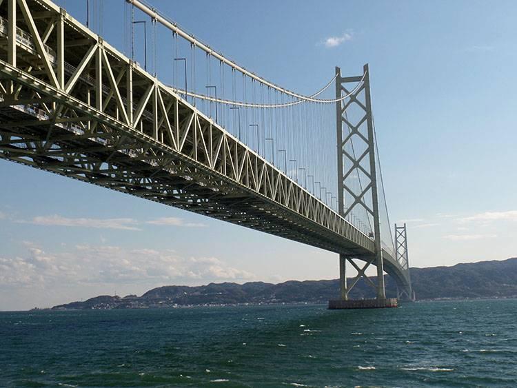 Kobe ciekawostki Japonia atrakcje most Akashi Kaikyo