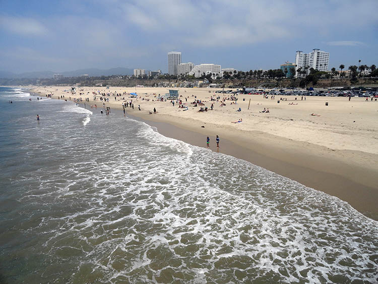 Santa Monica plaża ciekawostki Kalifornia USA