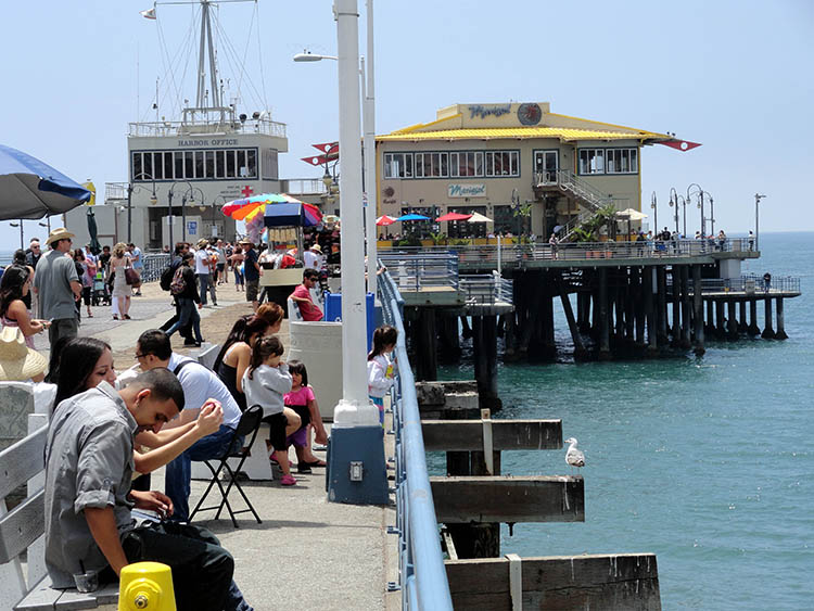 Santa Monica molo ciekawostki Kalifornia USA