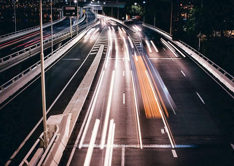 jazda po autostradzie autostrada autostrady