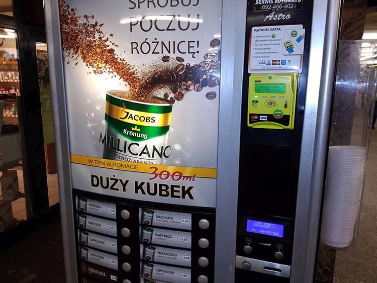 automaty vendingowe sprzedające vending Warszawa