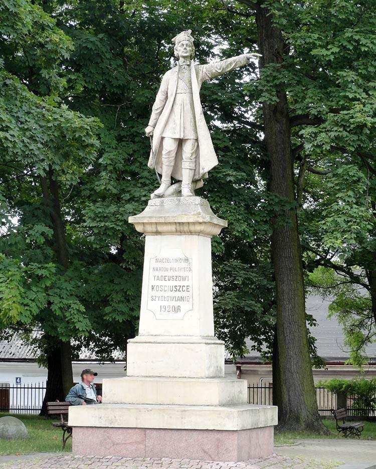 Szydłowiec pomnik Tadeusz Kościuszko