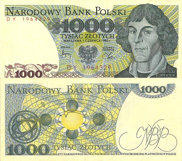 Mikołaj Kopernik ciekawostki anegdoty astronom banknot