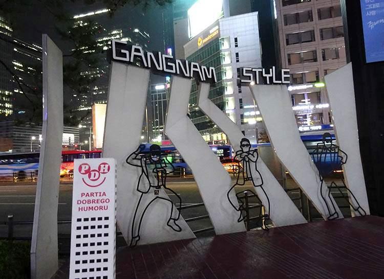 Psy Gangnam Style plac Seul
