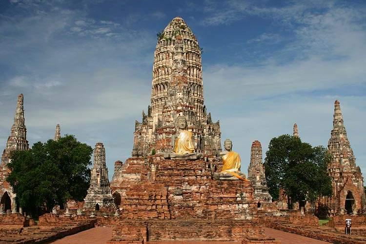 Tajlandia ciekawostki o Tajlandii Ayutthaya-wat Chai Watthanaram