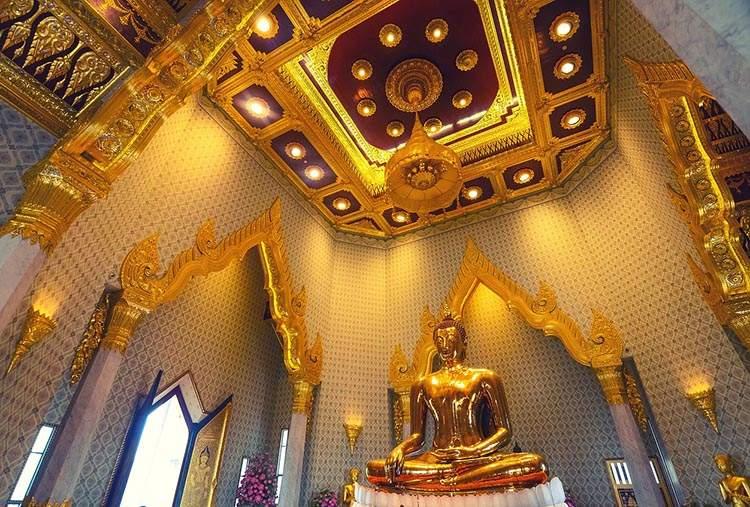 Tajlandia ciekawostki o Tajlandii Bangkok Złoty Budda