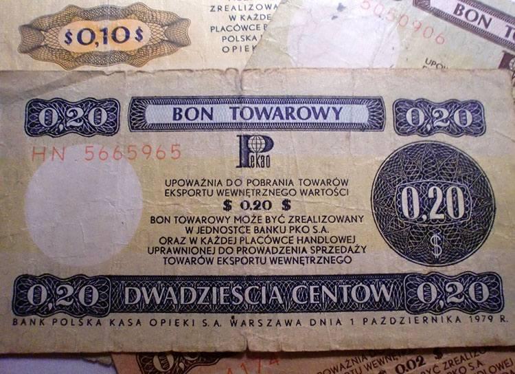 bony dolar bon PRL ciekawostki Pewex