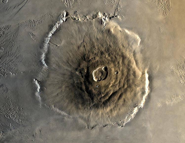 Olympuis Mons Mars planeta najważniejsze informacje ciekawostki o Marsie