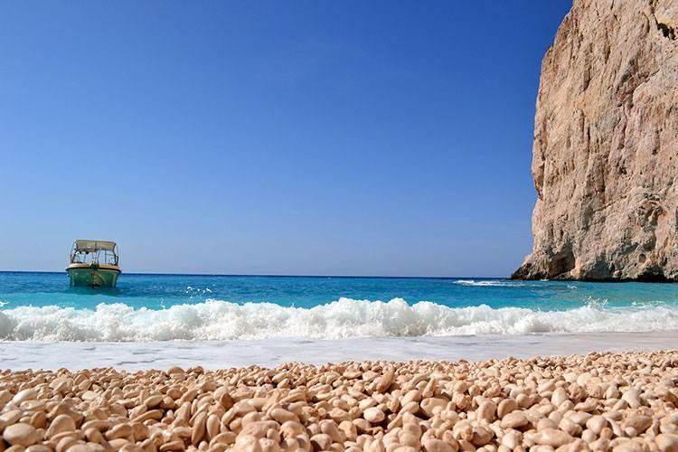 plaża wyspa Zakynthos atrakcje Grecja wczasy wakacje