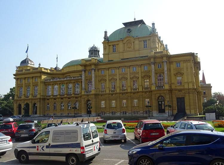 Teatr Narodowy Chorwacja Zagrzeb ciekawostki atrakcje turystyczne