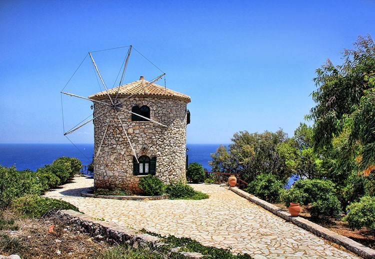 wiatrak wyspa Zakynthos atrakcje Grecja wczasy wakacje