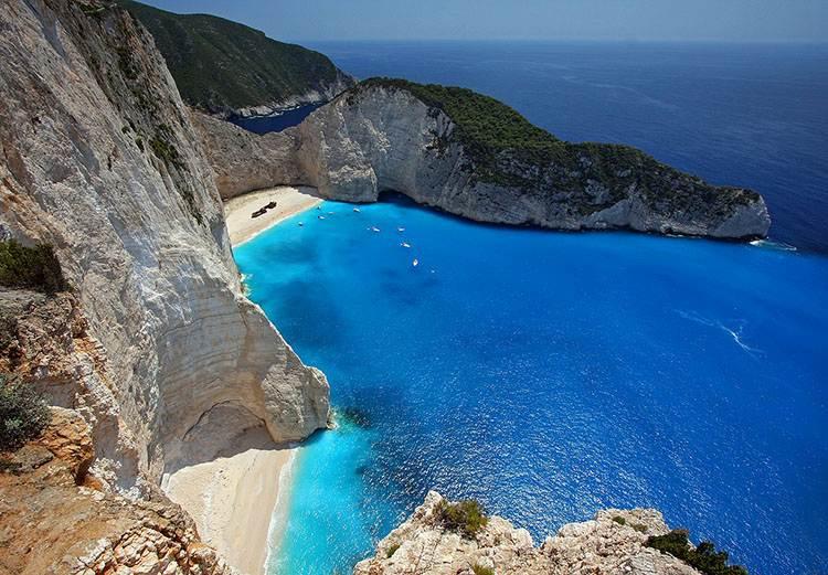 Zatoka Wraku Navagio Beach wyspa Zakynthos atrakcje Grecja wczasy wakacje