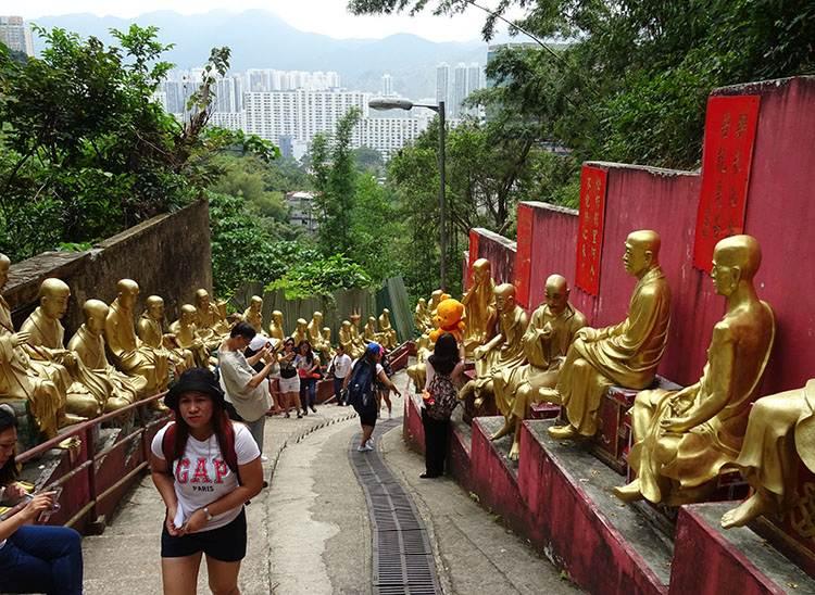 10 tysięcy buddów Hongkong atrakcje