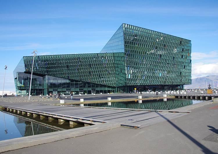 Harpa sala koncertowa Reykjavik Islandia ciekawostki