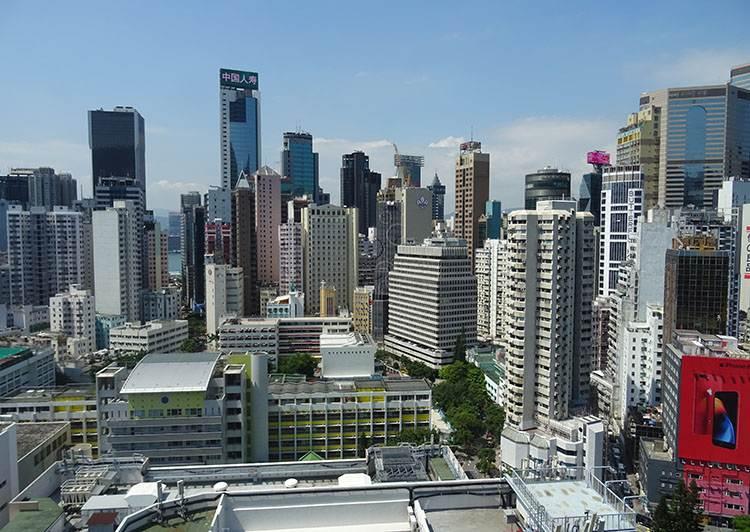 atrakcje Hongkong Dorset panorama miasta