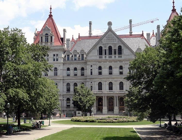 kapitol miasto Albany Nowy Jork USA ciekawostki atrakcje