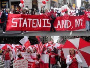 Parada Pułaskiego Nowy Jork Pulaski Parade NYC Polacy transparenty Polonia