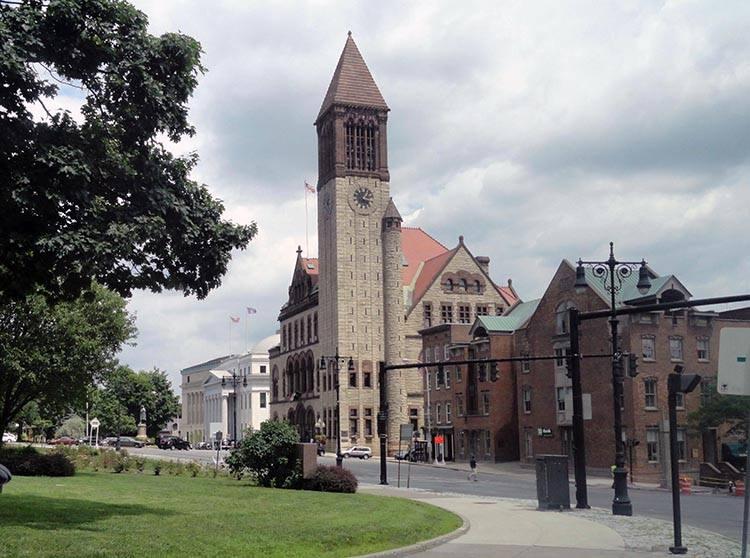 ratusz city hall miasto Albany Nowy Jork USA ciekawostki atrakcje