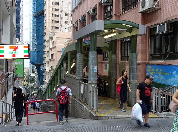 schody ruchome Hongkong atrakcje