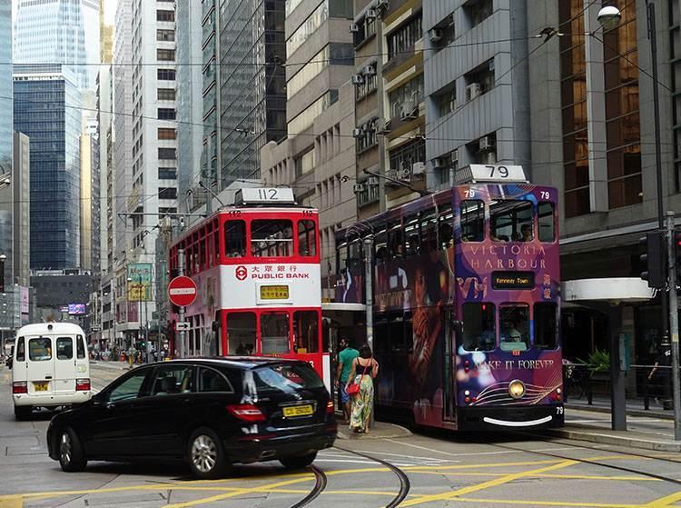 tramwaj autobus transport Hongkong atrakcje