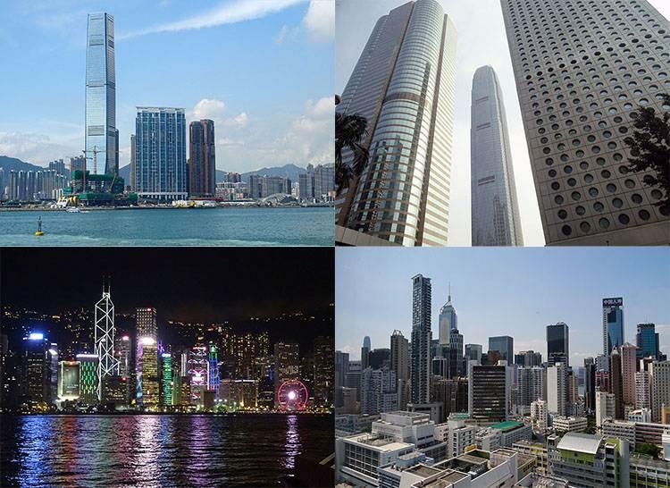 Hong Kong miasto Hongkong wieżowce architektura