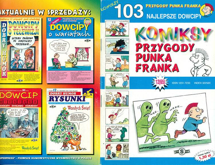punk Franek Przygody punka franka komiksy Super Dowcipy Szczepan Sadurski komiks Superpress