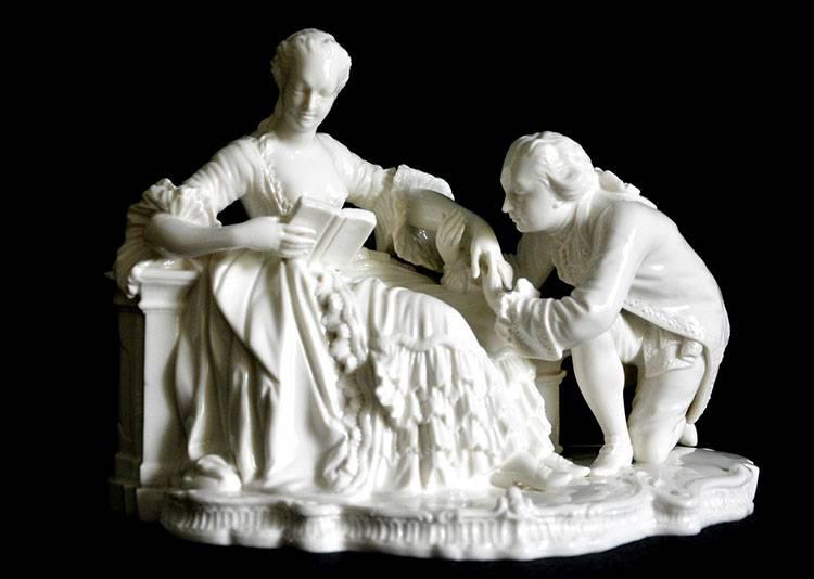 figurka porcelanowa pocałunek całowanie ciekawostki pocałunki miłość Walentynki