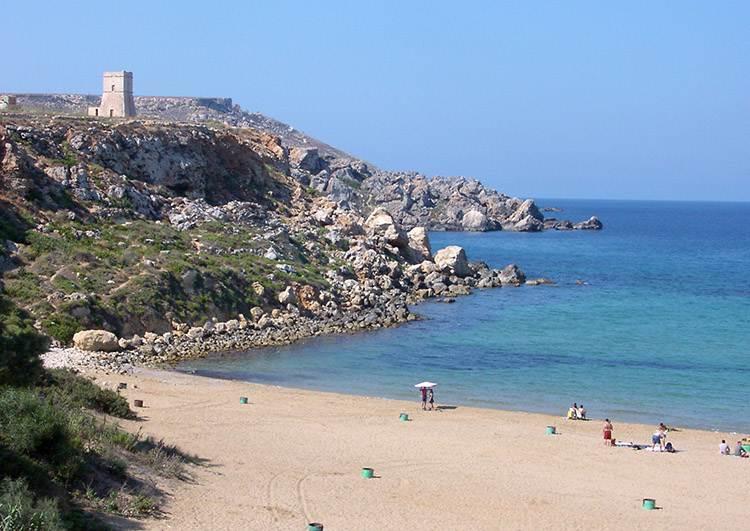plaża Golden Bay Malta ciekawostki