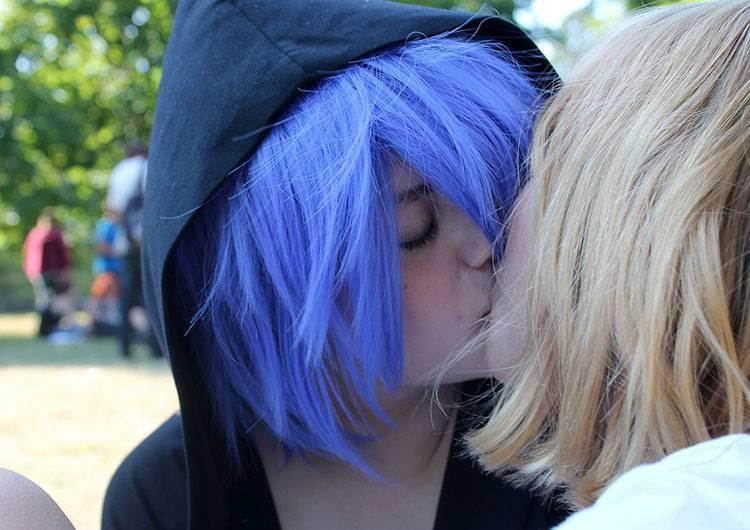 les lesbijki pocałunek całowanie ciekawostki pocałunki miłość Walentynki