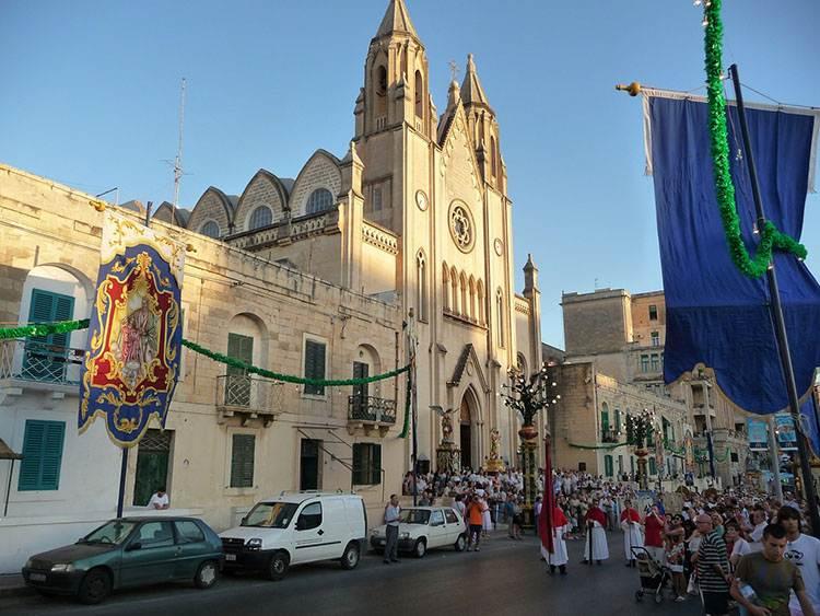 Malta ciekawostki Sliema kościół