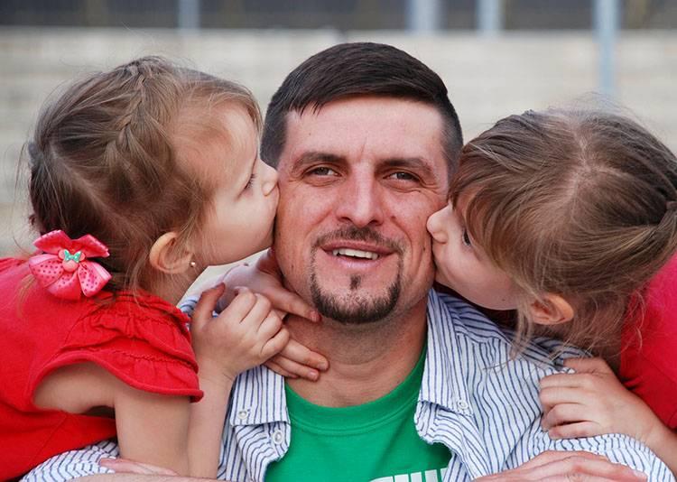tato tata dziecko dzieci pocałunek całowanie ciekawostki pocałunki miłość Walentynki