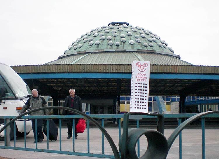 UFO dworzec autobusowy Kielce ciekawostki atrakcje