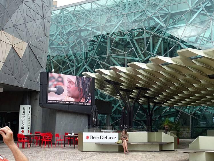 Federation Square Melbourne ciekawostki atrakcje Australia