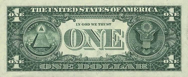 dolar ciekawostki historia dolary USA waluta symbole masońskie masoni