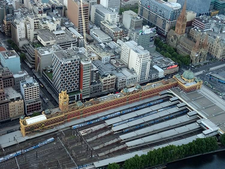 dworzec kolejowy Melbourne ciekawostki atrakcje Australia