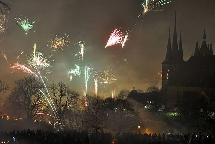 Erfurt Niemcy fajerwerki ciekawostki