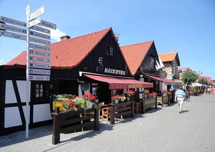 Maszoperia deptak ulica Wiejska Hel ciekawostki atrakcje wakacje