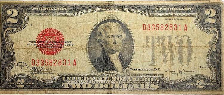 dolar ciekawostki historia dolary USA waluta 2-dolarówka