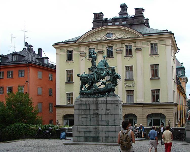 pomnik święty Jerzy Sztokholm ciekawostki Szwecja atrakcje zabytki
