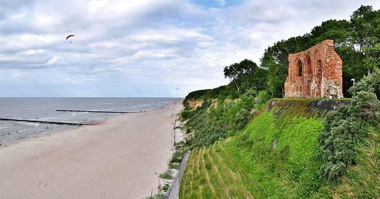 Trzęsacz Bałtyk Morze Bałtyckie ciekawostki