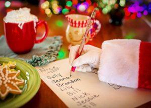 list do świętego Mikołaja prezenty