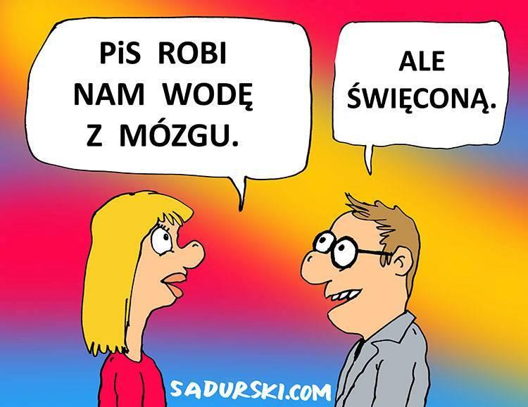 PiS woda święcona dowcipy polityczne satyra humor pis polityka