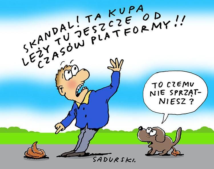 Platforma Obywatelska dowcipy polityczne satyra humor pis polityka