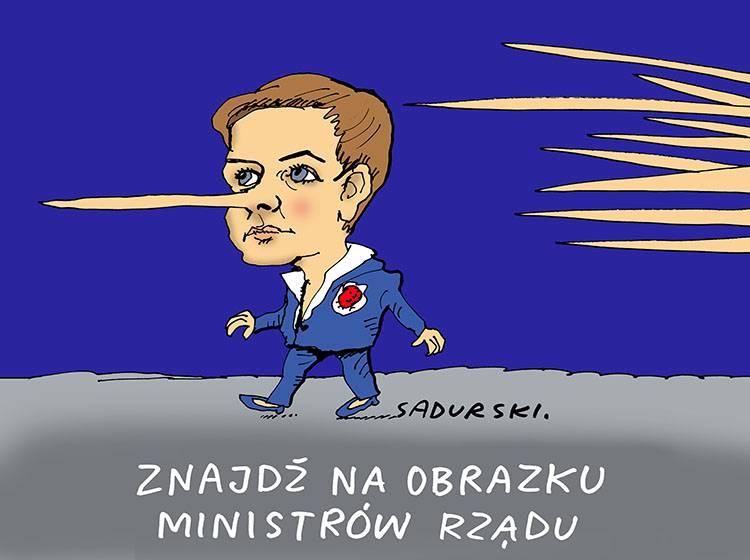 premier Beata Szydło dowcipy polityczne satyra humor pis polityka