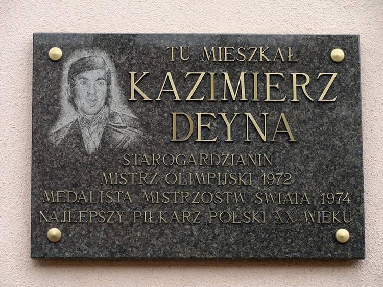 Kazimierz Deyna Starogard Gdański ciekawostki atrakcje