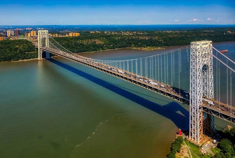 most Waszyngtona New Jersey ciekawostki Nowy Jork