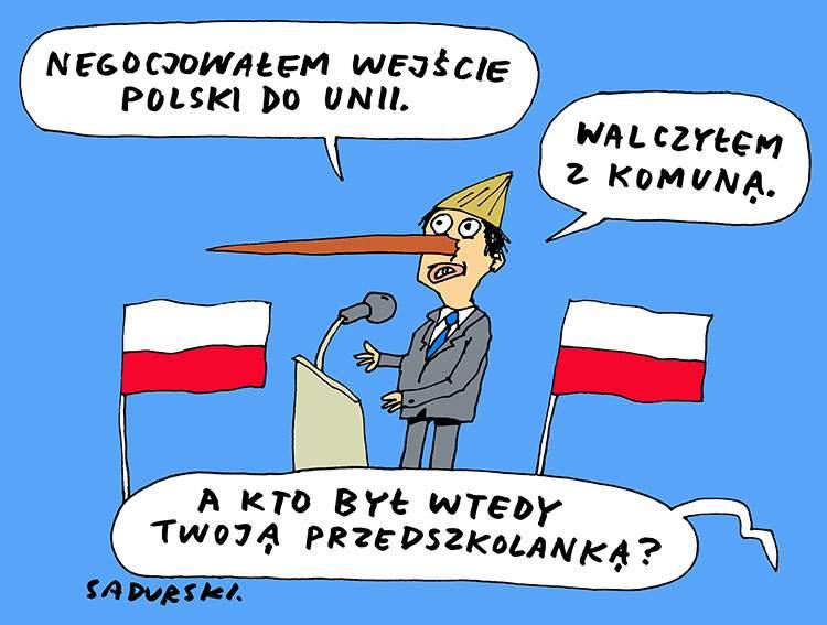 premier Mateusz Morawiecki rysunki-karykatury-humor dowcipy obrazki karykatury