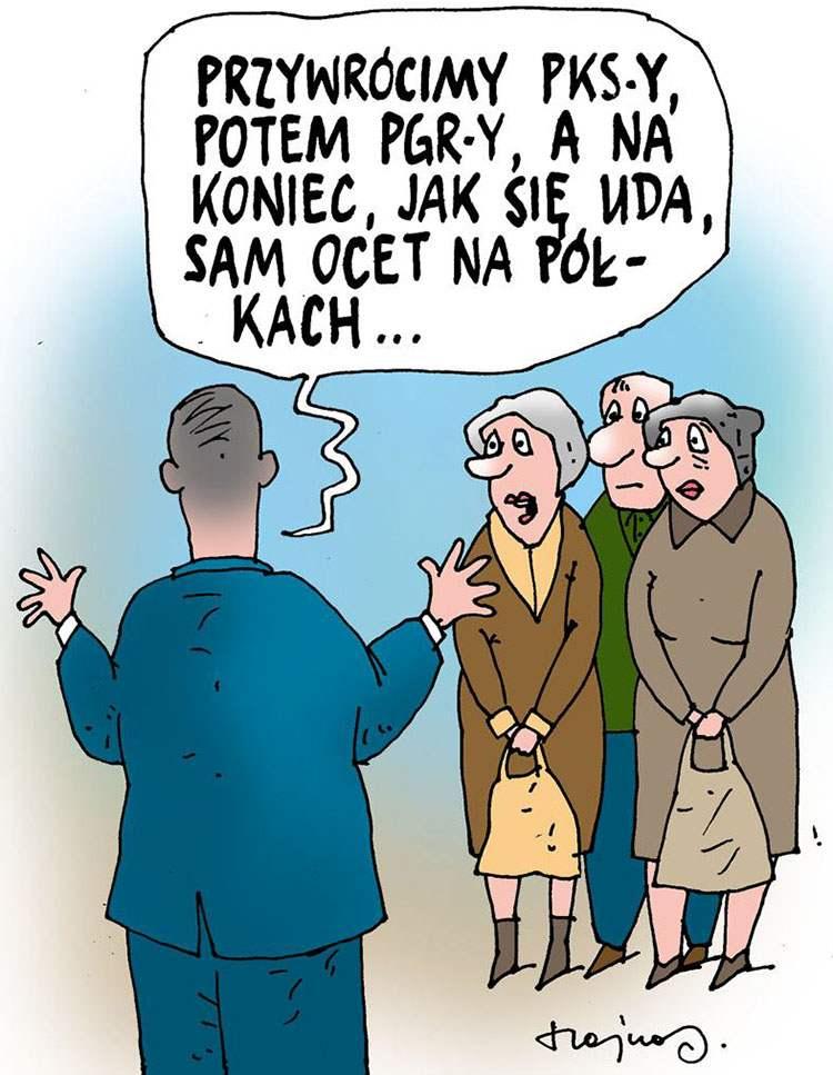 premier Mateusz Morawiecki rysunki karykatury humor dowcipy obrazki